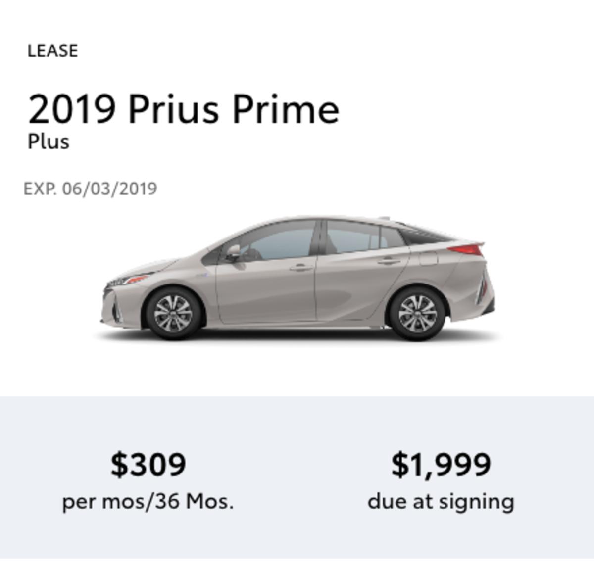 Prius Prime Lease >> Toyota Prius Prime Plus Pedal Auto